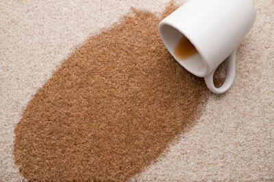 coffee spill on carpet